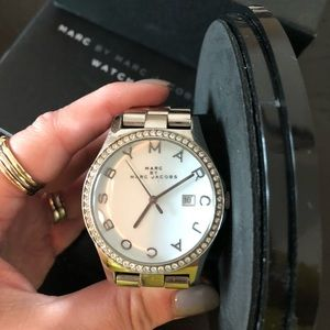MARC by Marc Jacobs steel and diamond watch! Tags